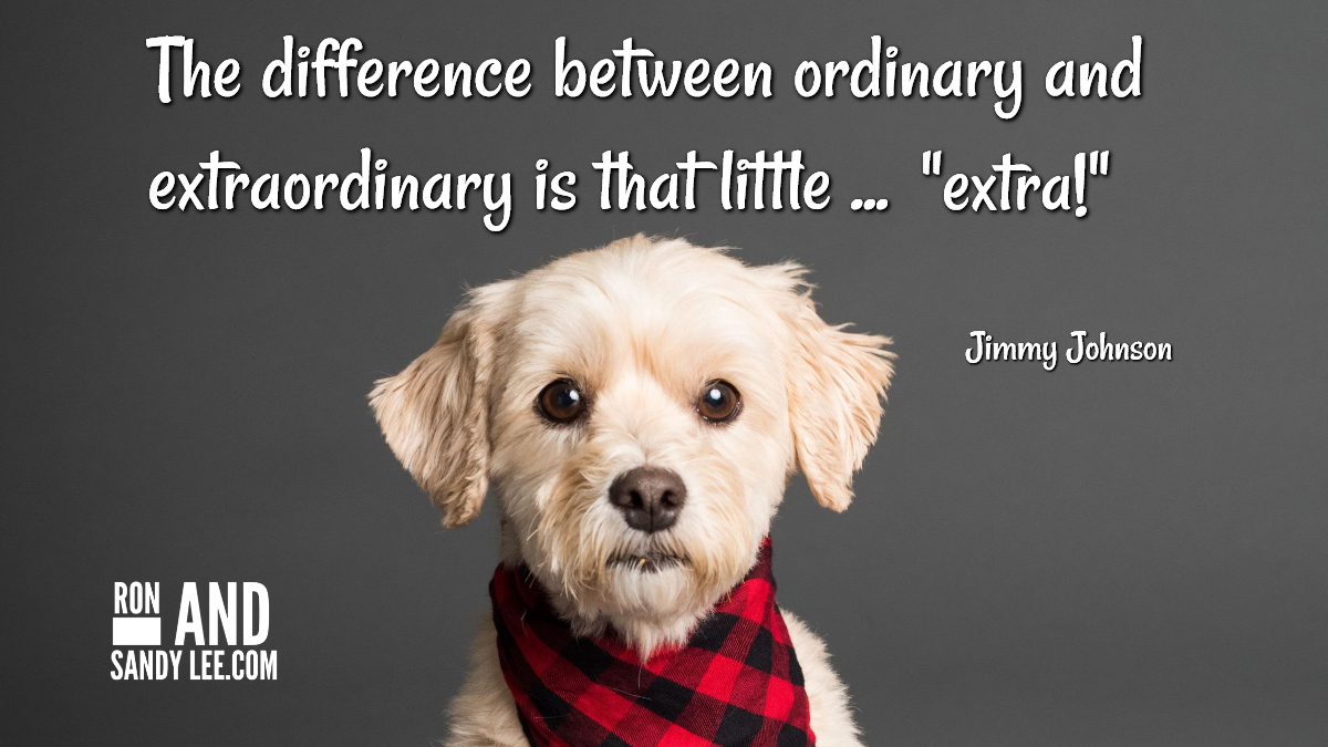 """The difference between ordinary and extraordinary is that litte extra!"" - Jimmy Johnson That little ""extra"" speaks volumes!  #millionairementor #businesssuccess #entrepreneurquotespic.twitter.com/lS0M7h879R"