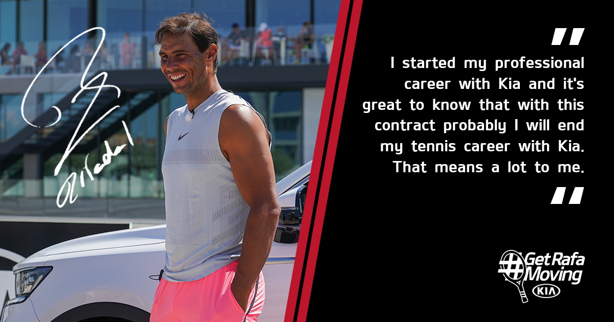 We've been moving with @RafaelNadal for 16 years, we're delighted to continue for another 5. Vamos Rafa!  #GetRafaMoving #KiaOman https://t.co/EYpWzt3eNA