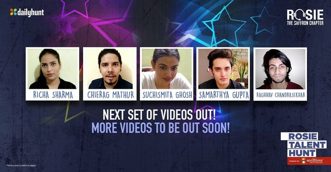 Here are the next set of videos for you to vote. Checkout the amazing auditions and vote for the ones you like best. Get voting! Vote here: profile.dailyhunt.in/vivekanandober… @vivekoberoi #PrernaVArora @mishravishal #GirishJohar @RosieIsComing @dailyhuntapp @palaktiwarii #Rosie