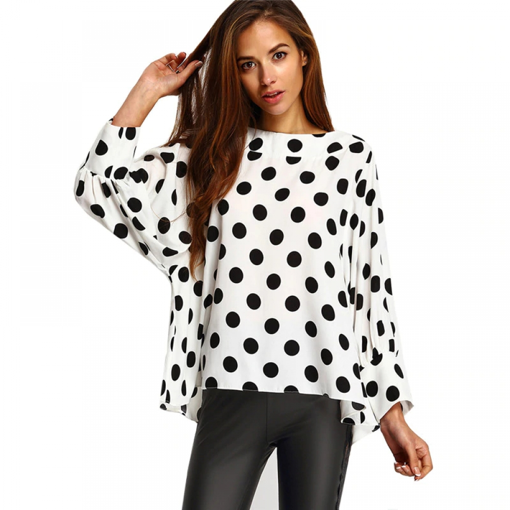 #fashion #style Women's Black and white Dots Blouse pic.twitter.com/y6uRztHvaB