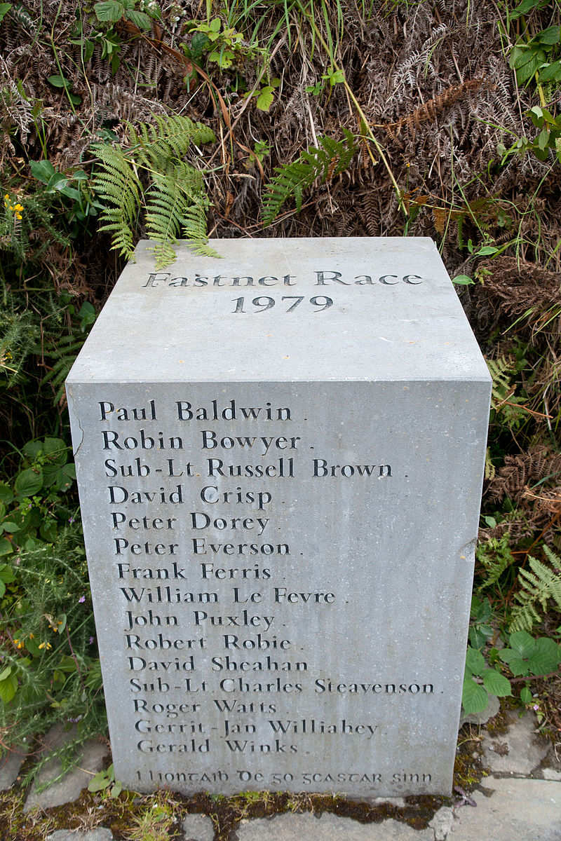 """#Otd 1979: Disaster at Fastnet yacht race: 19 died in storm. Race named after Fastnet Rock, which course rounds. Most S point of Ireland, """"Ireland's Teardrop"""", since last part that 19th C emigrants saw as they sailed to N America. Cape Clear has memorial. https://t.co/1Hg3PfkqOq https://t.co/kduihmocM9"""