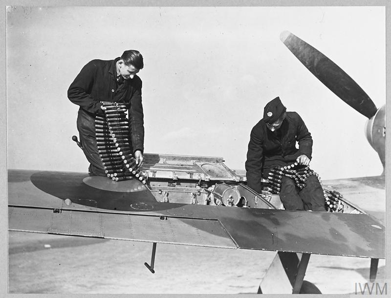 There were 7 recorded losses #OTD in 1942, 1943, 1944 and 1945 with 3 pilots safe but 4 pilots were unfortunately lost  Head to our Facebook page for more info: https://t.co/otAjd9LBfG…   The picture, from @I_W_M, shows armourers loading two of the 20mm cannons of the Typhoon https://t.co/PGIefv70O8