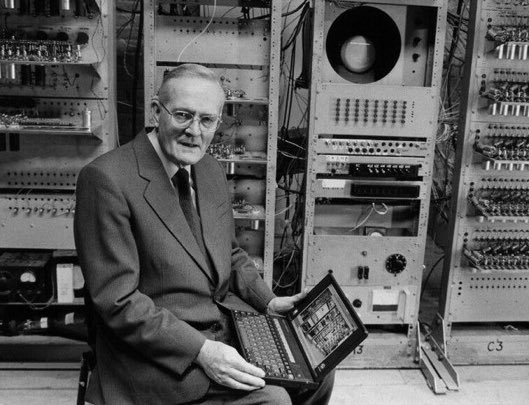 """Tom Kilburn born #OTD 11 August in 1921. British electrical engineer who wrote the computer program used to test the first stored-program computer, the Small-Scale Experimental Machine, SSEM, also known as """"The Baby."""" https://t.co/qzr5Ii0W06 https://t.co/WEHqZMTvIU"""