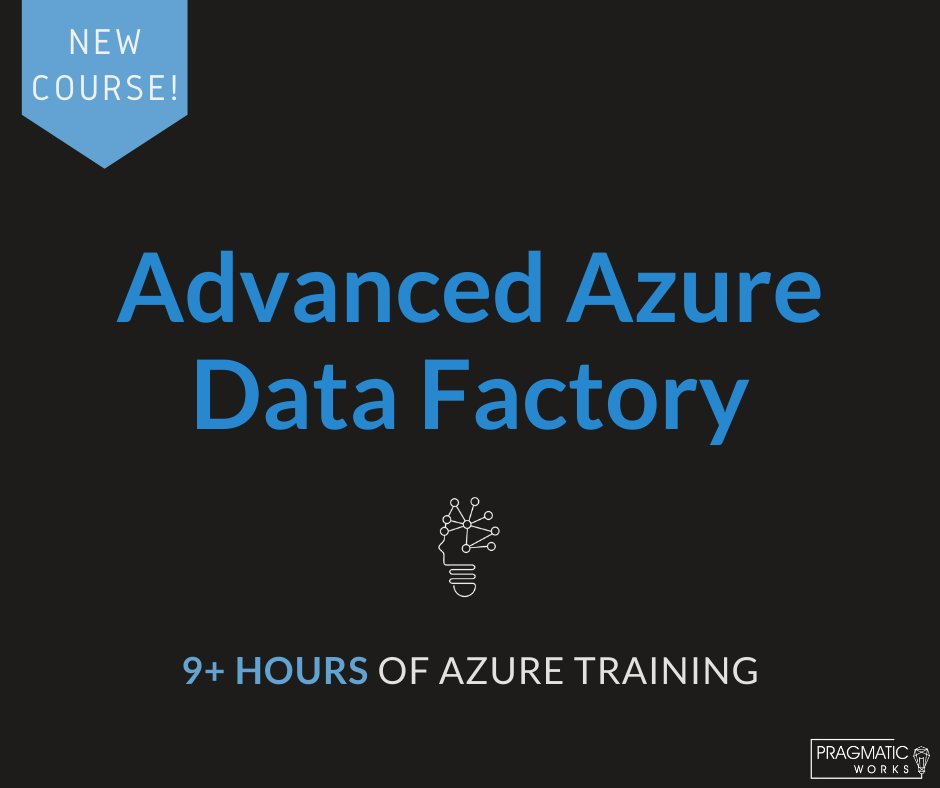 Our new Advanced Azure Data Factory (ADF) course is designed to provide a comprehensive overview of ADF and the integration with other cloud technologies. Start learning now https://bit.ly/3gBWyaP   #PragmaticWorksTraining #FreeTrial #Elearning #Microsoft #AzureDataFactory #Azurepic.twitter.com/1cP0BwCMAy