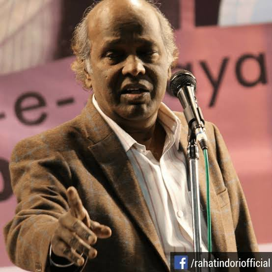 Rahat indori one of the great poet died today due to the cardiac arrest he was tested positive for corona yesterday  His famous lines   سرحد پر تناؤ ہے'کیا؟۔  پتہ کرو چناؤ ہے کیا  #COVID #RahatIndoripic.twitter.com/jqY406oLNC
