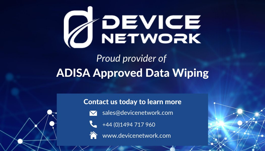 We offer data wiping services for all mobile devices using ADISA approved industry standard software. If you have data sensitive stock/are looking to buy professionally data wiped devices contact us at sales@devicenetwork.com  $aapl #datawiping #mobilephone $smsn #adisa #b2b pic.twitter.com/1dxlWWtInH