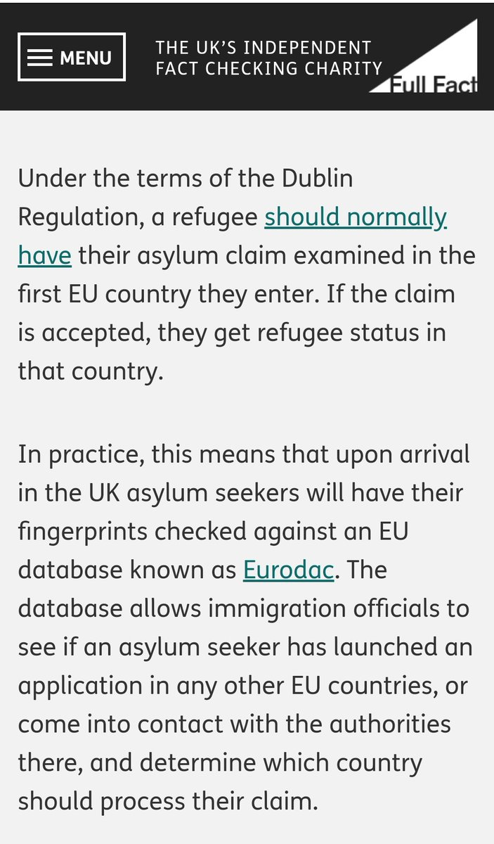 Classic Brexit #TakeBackControl   The UK will lose access to a database that enables it to return some asylum seekers to the EU country in which they originally registered. pic.twitter.com/ylONrdwW8w
