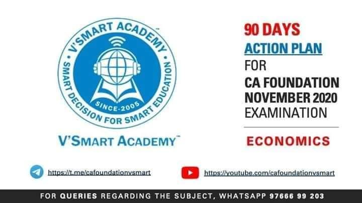 Reposted...#vsmartacademy #pune CA Foundation -  ECONOMICS - 90 Days Action plan for Economics by CA CS Pavan Gahukar https://youtu.be/YDb6AVlstSA  #cacspavangahukar #cafoundation #caclasses #caexam #ABkiBaarNOVEMBERpaar pic.twitter.com/h5bYJDiNYc