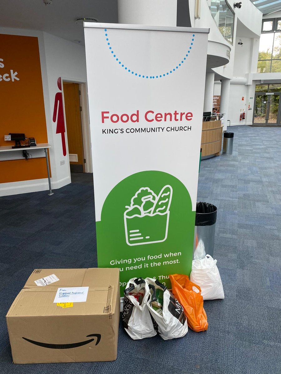 Thank you to everyone who contributed to Highfield's donation to the local food bank! @nbrly #HedgeEndFoodCentre