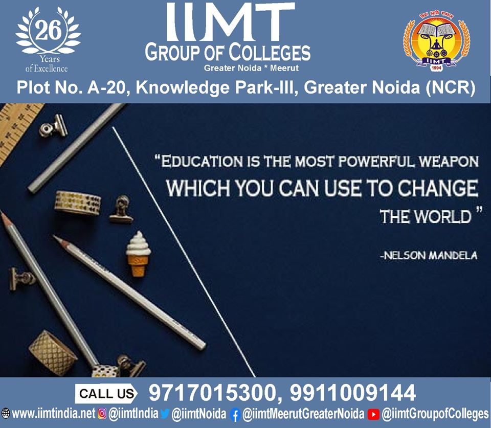 EDUCATION IS THE MOST POWERFUL WEAPON WHICH YOU CAN USE TO CHANGE THE WORLD - NELSON MANDELA . iimtindia.net/campaign-epape… #NAACaccreditedcollegesingreaternoida #thoughtoftheday #thoughts #UPSEEBestEngineeringcolleges #UPSEEengineeringcollegesingreaterNoida