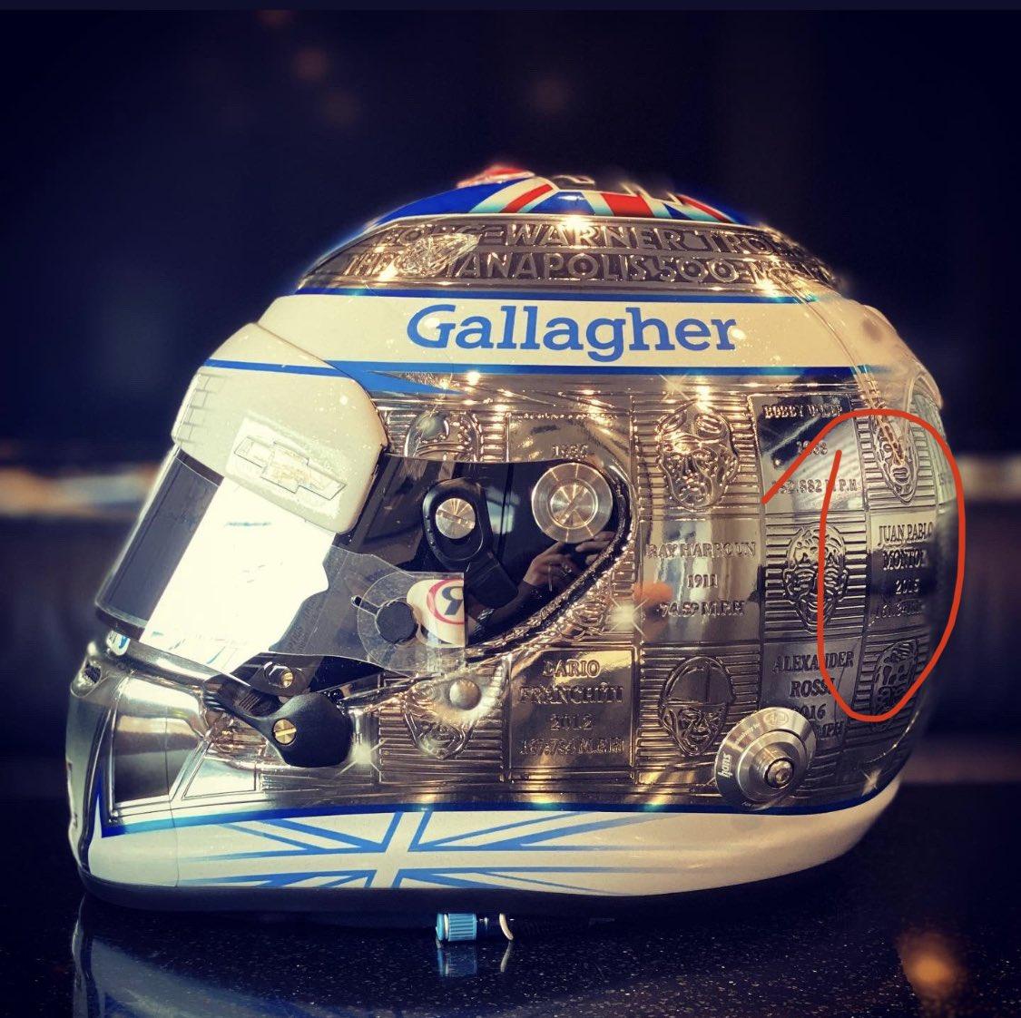 Increíble el casco de Max Chilton, #Indy500 fever, en el círculo un conocido. En mi foto de perfil la inspiración del diseño. https://t.co/o2mI8gXc0y