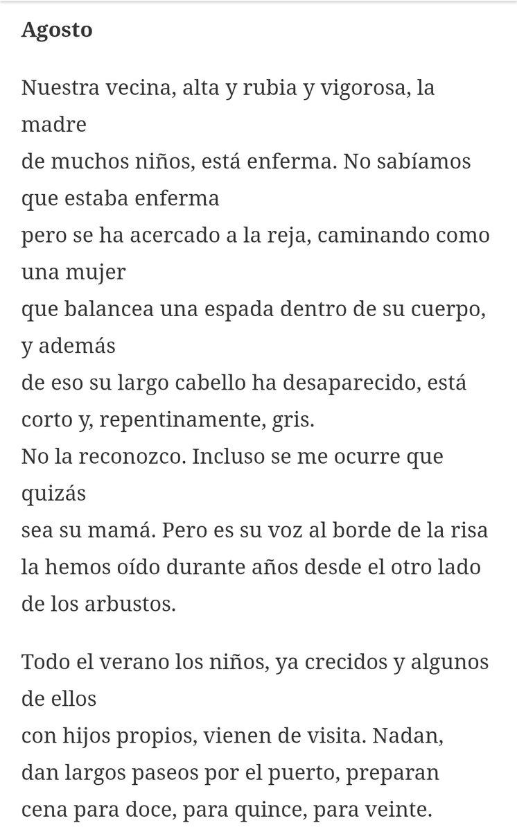 RT @Rosaberbel_: Pensando en este tristísimo poema veraniego de Mary Oliver. https://t.co/lHDvevdycl