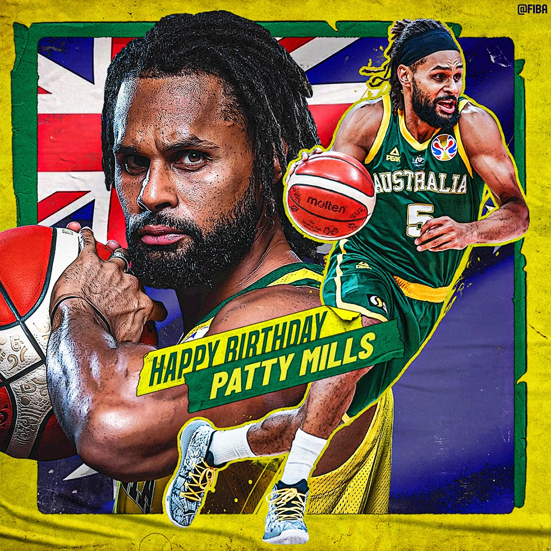 🎂 Join us in wishing a Happy Birthday to @BasketballAus🇦🇺's @Patty_Mills! https://t.co/9n6Tz6R7VN