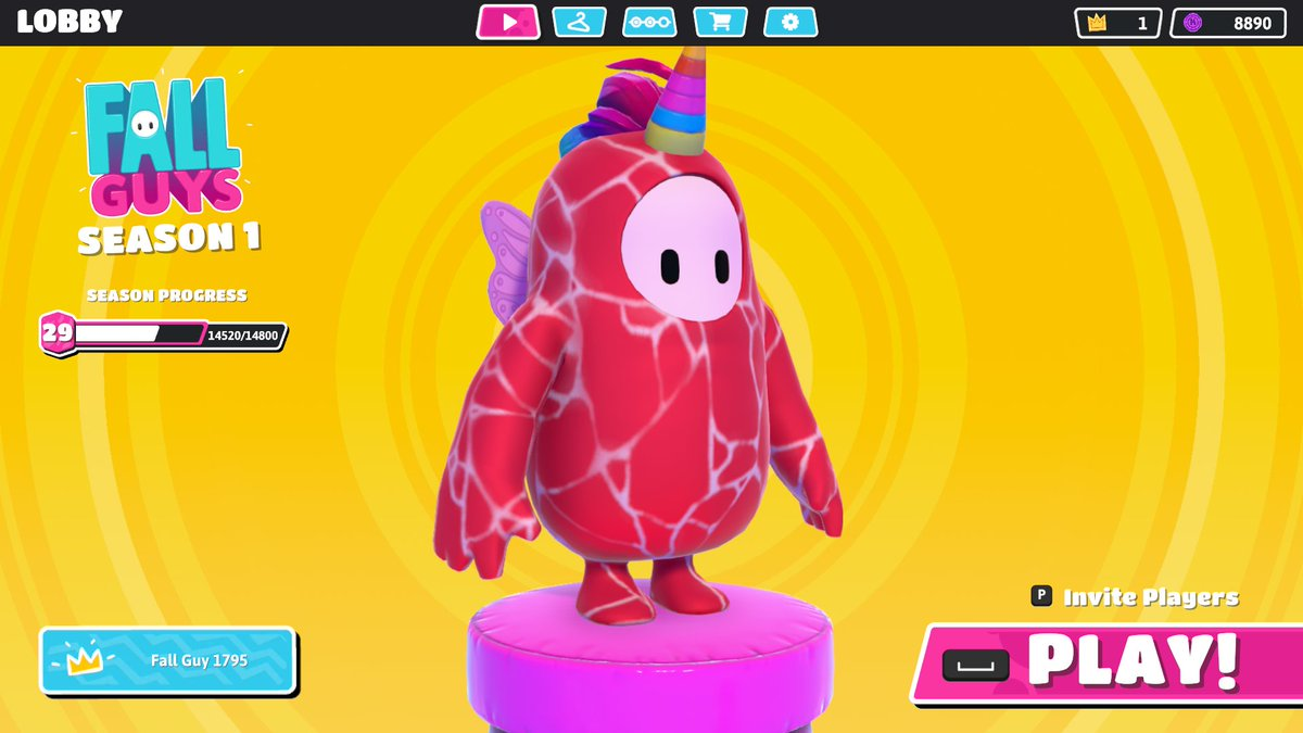 """@FallGuysGame Hey uhh what do you think of my cosmetic combo? I call it """"Meaticorn"""" pic.twitter.com/Wh7VNYdY6f"""