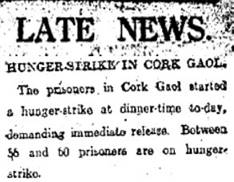 11 August 1920 - Hunger Strike in Cork Gaol  This week @UCC historian Gabriel Doherty marks the 100th anniversary of the Hunger Strike at Cork Gaol.  https://t.co/Iv4DHLzdBk  #Cork #history #hungerstrike #1920 https://t.co/Hewvt1sd2v