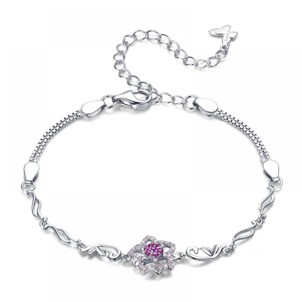 #bling #glitter Romantic Pink Flower Chain Bracelet https://womensilver.com/product/romantic-pink-flower-chain-bracelet/…pic.twitter.com/nVUMIKtoxH