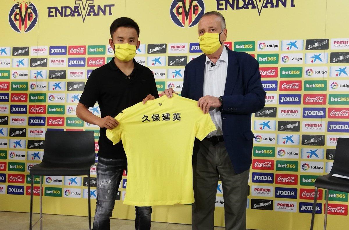 #LaLigaxESPN Takefusa Kubo empieza a lucir los colores de su nuevo club, el Villarreal.