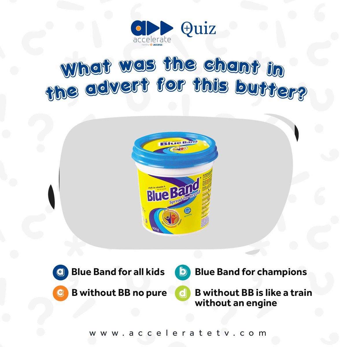 What was the chant in the advert for this butter? Tag your friends to see if they can remember. #acceleratequiz