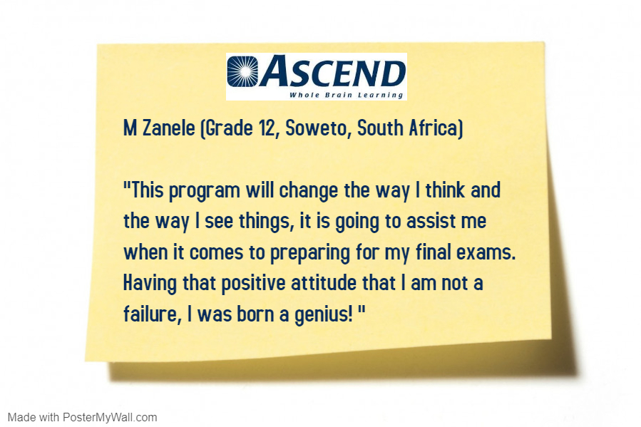 Unlock the genius within! #testimonialtuesday  #student #education pic.twitter.com/NMTlS4MDbL