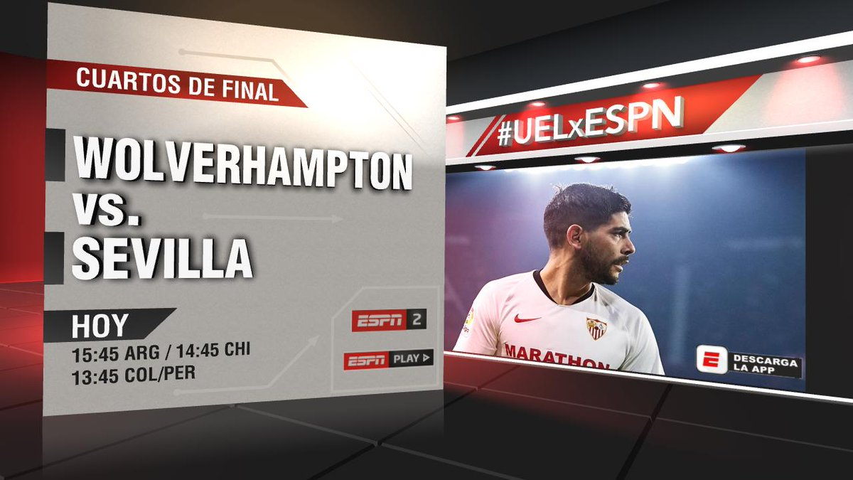 Hoy no te pierdas un partidazo de la #UELxESPN: Wolves y Sevilla van por un lugar en la semifinal y lo podrás disfrutar a través de nuestras señales.