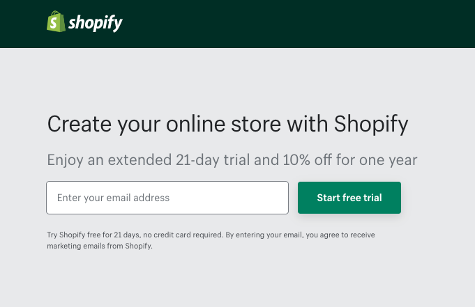 To start e-commerce for FREE  get 21-day FREE Shopify Trial and plus 10% off for 1 year Special 21-day FREE trial link here:  https://buff.ly/31zDXWK    #Shopify #Free #Trial #Ecommerce #FreeTrial pic.twitter.com/V60fbcMyjq