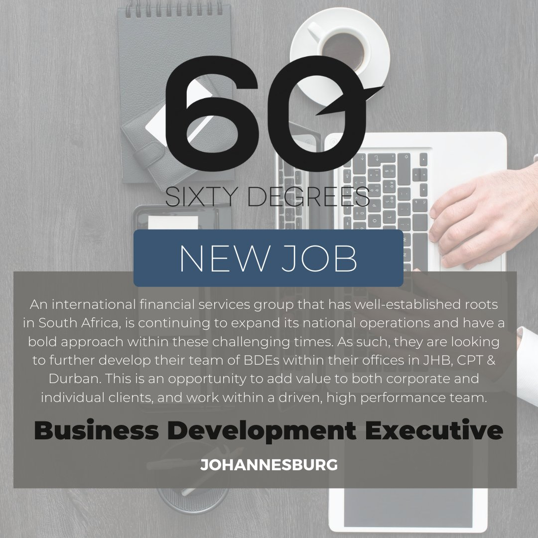 test Twitter Media - New #JobAlert - Business Development Executive in JHB  For more information & to apply, please click on the link below;  https://t.co/FnnDd1XlWu  #60Degrees #60DRecruiter #60Droles https://t.co/CiegKaTvhG