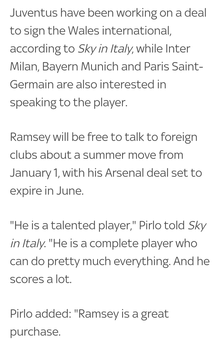 @StansRanch Its a report by Mirror lol Here's what Pirlo thinks about Rambo: