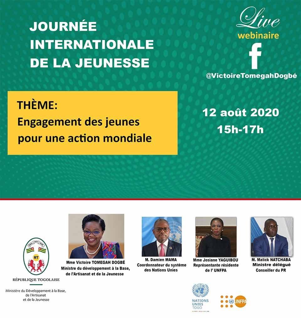 Ce 12 août à partir de 15h, je serai en direct sur ma page Facebook avec @DamienMama, @JosianeYaguibou et @kmnatchaba pour célébrer avec vous la journée internationale de la jeunesse. https://t.co/sjaIPGPdC4