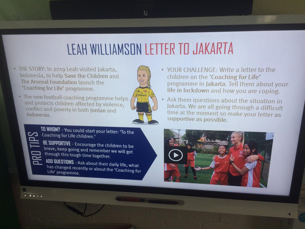 Day 2⃣ at the @FleetPrimary summer school programme and pupils are completing the @leahcwilliamson Letter to Jakarta Challenge ✍️💥 #WeAreTheArsenal #CoachingForLife 🌟PLPrimaryStars🌟 @AFCDoubleClub @PLCommunities @ArsenalWFC @savechildrenuk