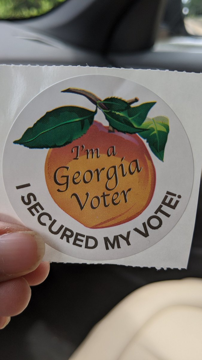 Took 5 minutes to vote today. All locations open in Fulton County. Maybe they've got this figured out for November. 🤞🏾🤞🏾🤞🏾🤞🏾 https://t.co/h9EiNdrSYE
