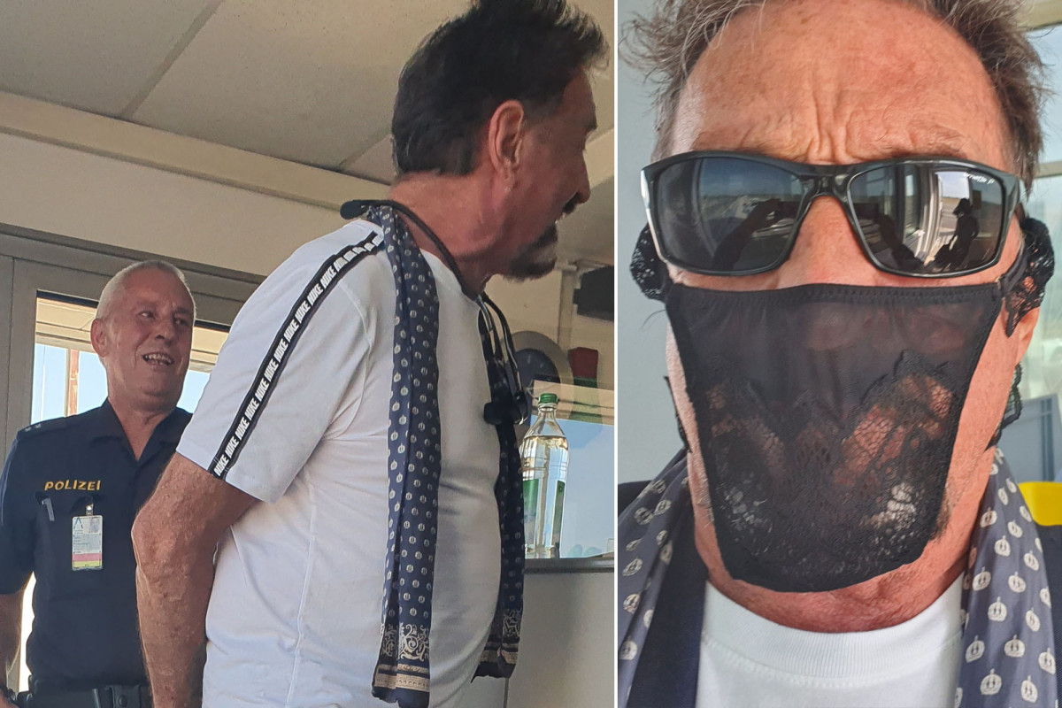 John McAfee apparently arrested for wearing thong instead of face mask in Norway https://t.co/hLsW7VtLEa https://t.co/eGb8685fmW