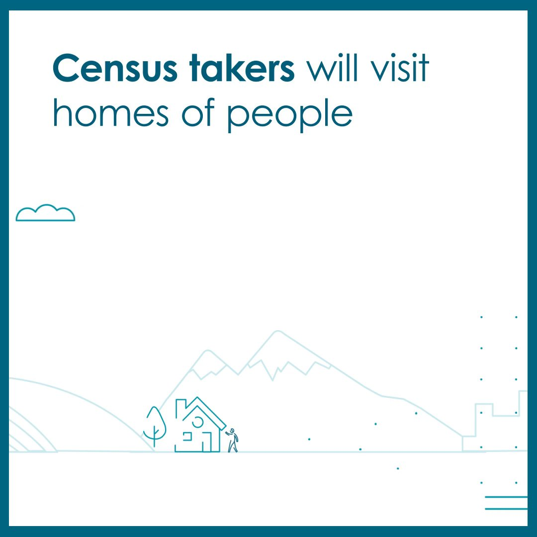 Census takers are here to help you complete the #2020Census. By answering a few questions, you'll help shape the future of your community for the next 10 years. Learn more at 2020CENSUS.GOV.