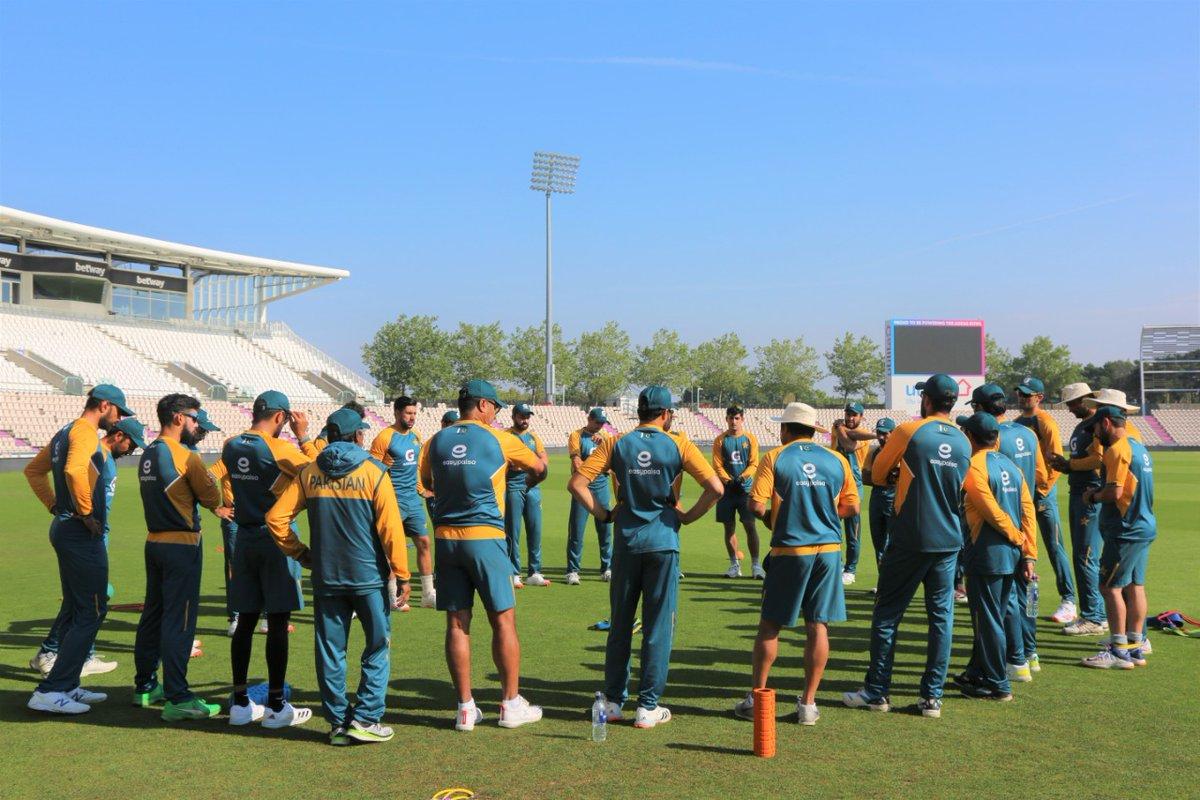 Pakistan Test squad practice session at the Ageas Bowl, Southampton. https://t.co/cii8FnJqmx