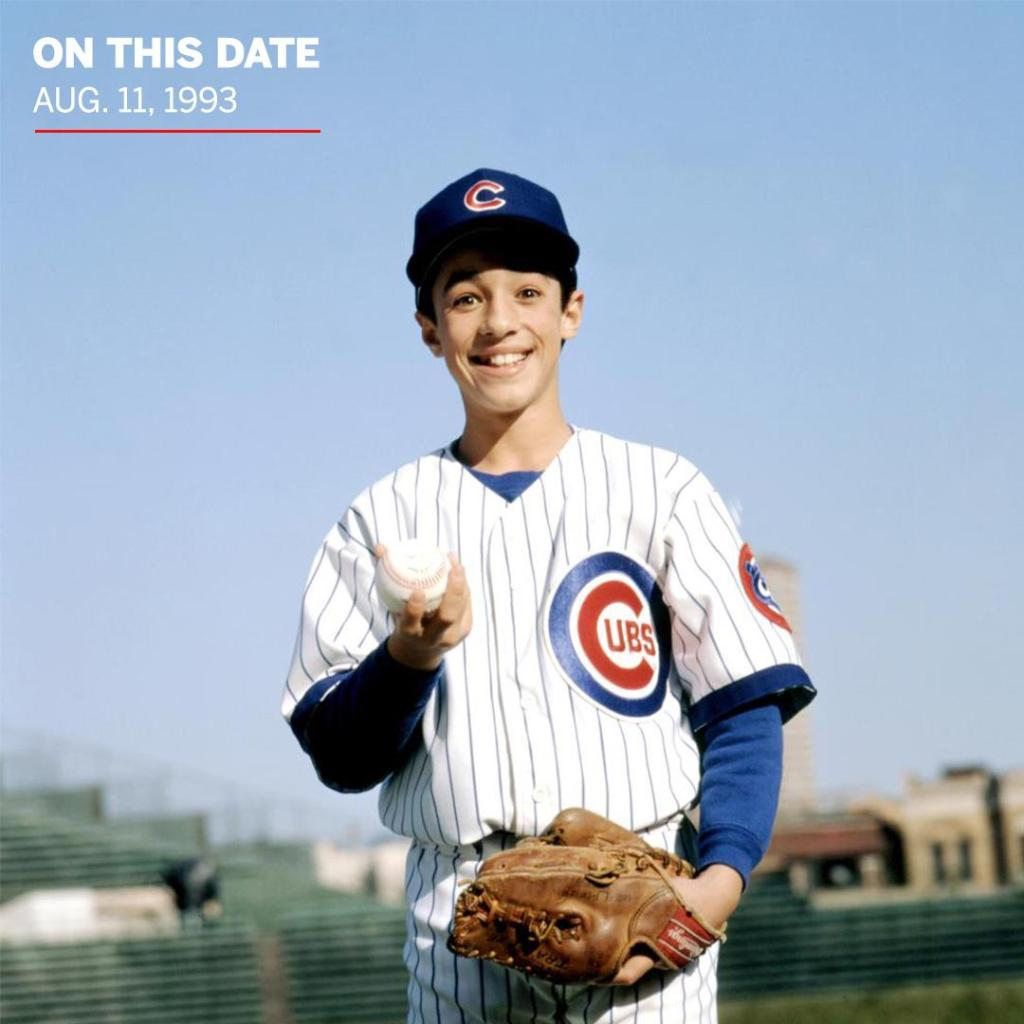 27 years ago today, 12-year-old Henry Rowengartner recorded a save in his MLB debut for the Chicago Cubs. https://t.co/foc4dIRfYQ