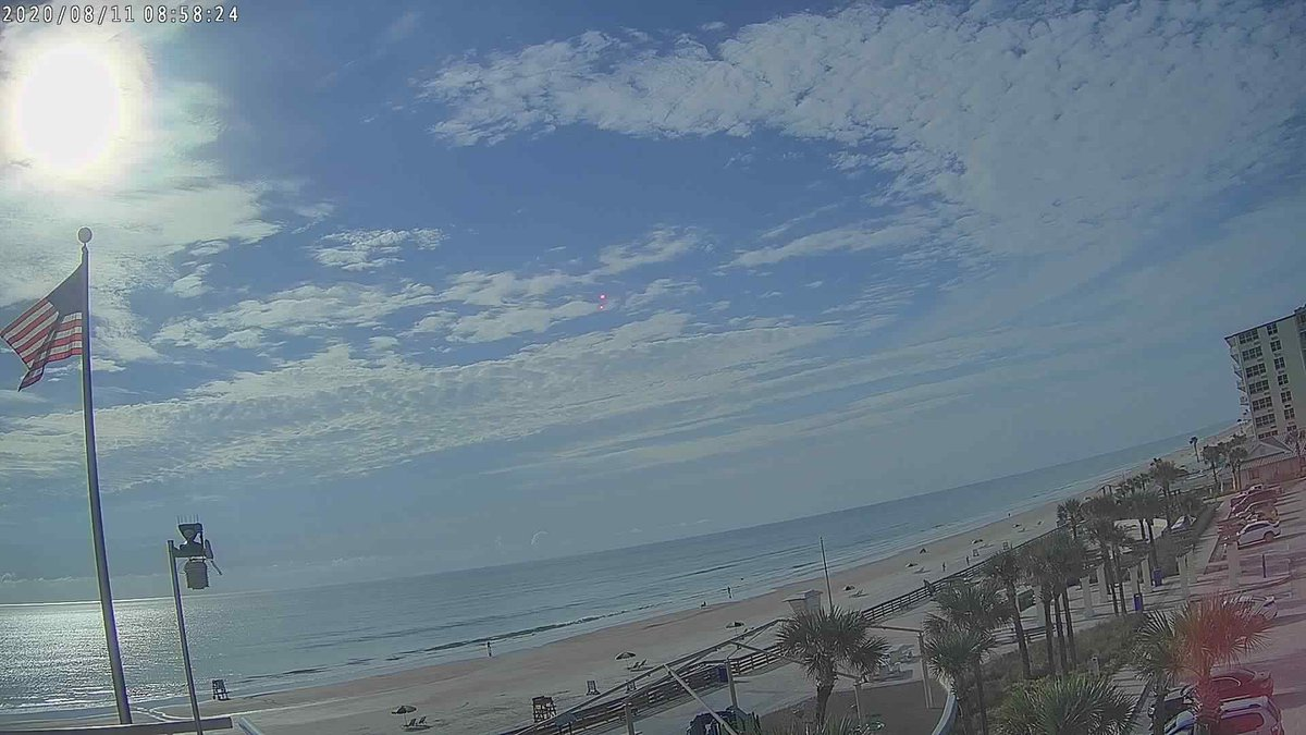 """Our friends and partners from @FlaglerEOC shared that Flagler/Volusia counties is """"The Fun Coast"""".  They also shared the area code there is 386 which spells """"F-U-N""""!  That IS fun and here's a couple live pics from the Fun Coast @HDBWeatherSTEM @FSWNDaytonaBch https://twitter.com/StephanieAbrams/status/1293149277137637381…pic.twitter.com/7V4iKii1u4"""