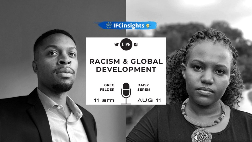 .@IFC_org is going live at 11am today for a discussion on the impact of racism on global development. Join the LIVE conversation on @IFC_org and share your thoughts💭, comments 🗨 & questions using #IFCInsights.