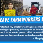 Image for the Tweet beginning: Farmworkers say no more excuses,