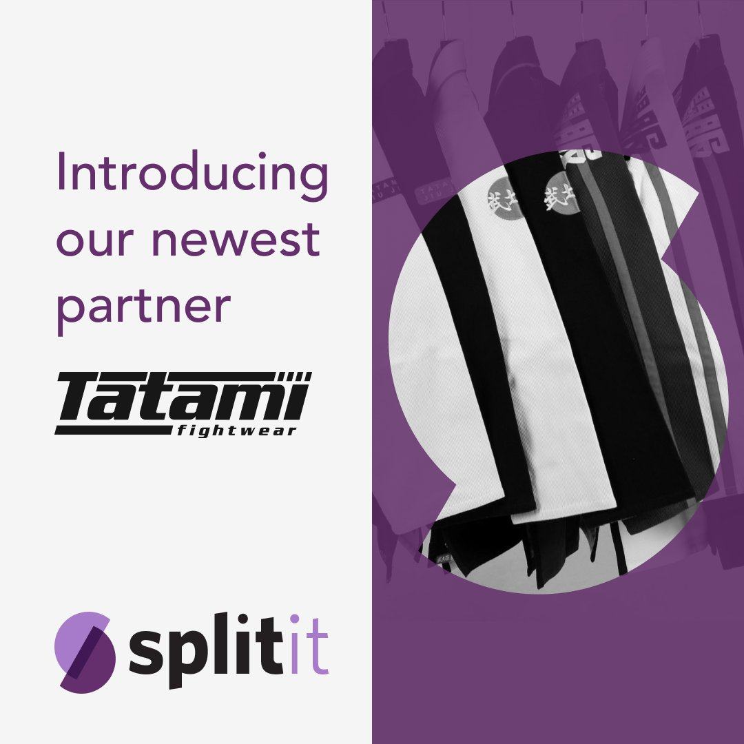 Say hello to @TatamiFightwear, the worlds number 1 retailer in Brazilian Jiu Jitsu clothing and accessories. Pay over time with Splitit, no interest! #BuyNowPayLater #BNPL #JiuJitsu https://t.co/DP8cVOSsbE