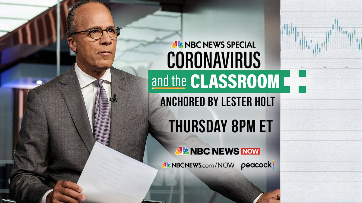 Tune in to Coronavirus and the Classroom with @LesterHoltNBC Thursday at 8 p.m. ET on @nbcnewsnow.