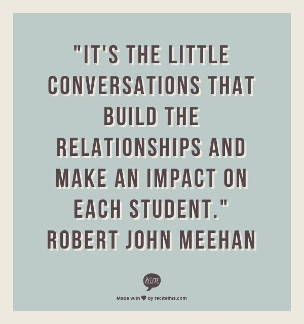 Important to have those conversations throughout the school year!