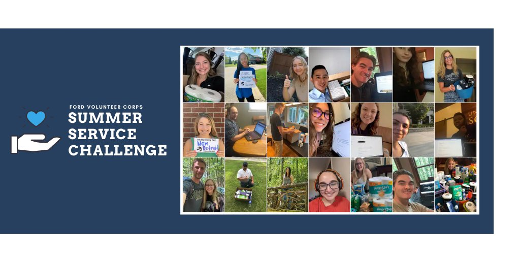 TY to all the #FordInterns that participated in the Ford Volunteer Corps Summer Service Challenge. Over the past four weeks, Ford interns have learned about community service as it relates to advocacy, environment, basic needs and economic development. https://t.co/sQERVwgMG3 https://t.co/TYLesYni0a