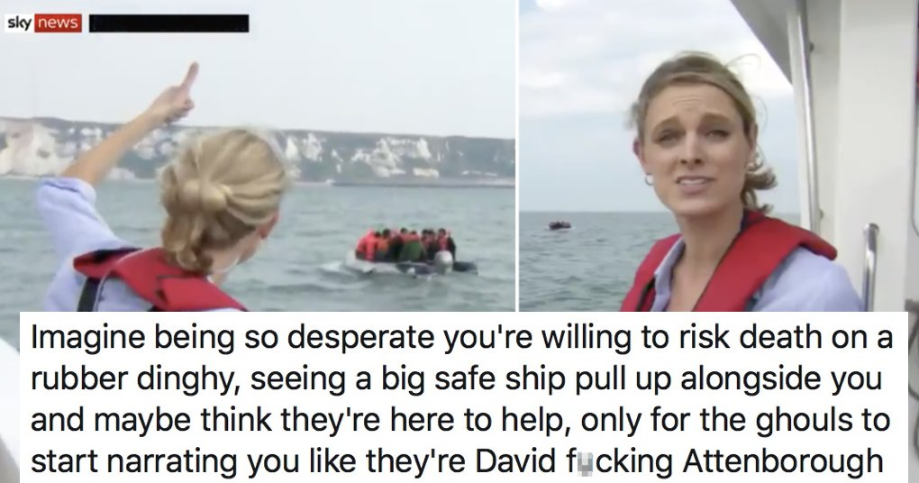 Now Sky News is following migrants in boats across the English Channel – 5 responses that say it all https://t.co/rJLRDESGEz https://t.co/NsBhwtGJoT