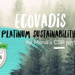 Image for the Tweet beginning: We just received @ecovadis Platinum