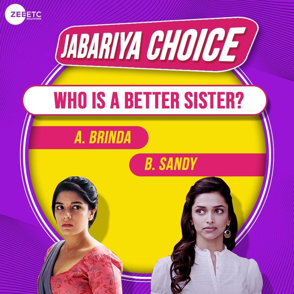 Oh girl, you're my sis! 👯♀️ Comment below your choice. @deepikapadukone #JabariyaChoice #Bollywood https://t.co/GdAoSeTp1W