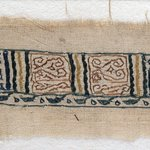 Image for the Tweet beginning: This textile fragment with a