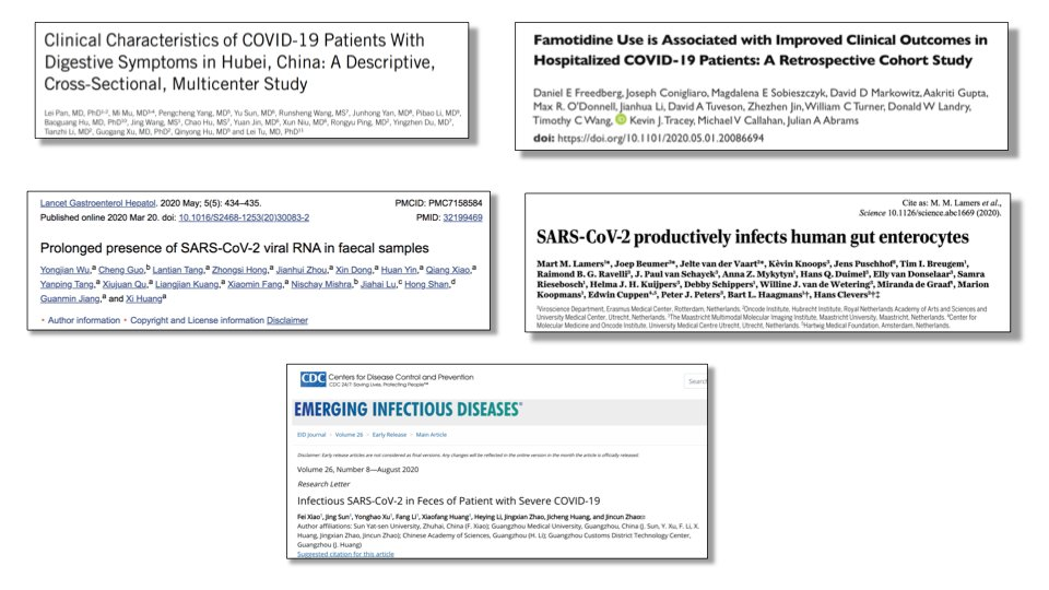 My top 5 studies about #COVID10 and the gut: For #ACG2020 I'm re-posting my previous picks for the most influential studies on GI Covid. There are many other studies accumulating every day so I will update my list soon.