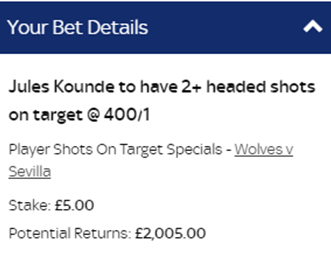 Great find from @dannygpunter I wasnt aware Sky had these markets. Certainly think this has a better chance than the odds imply. Landed last time out against Roma. RT and if it lands Ill give 2 people £100.
