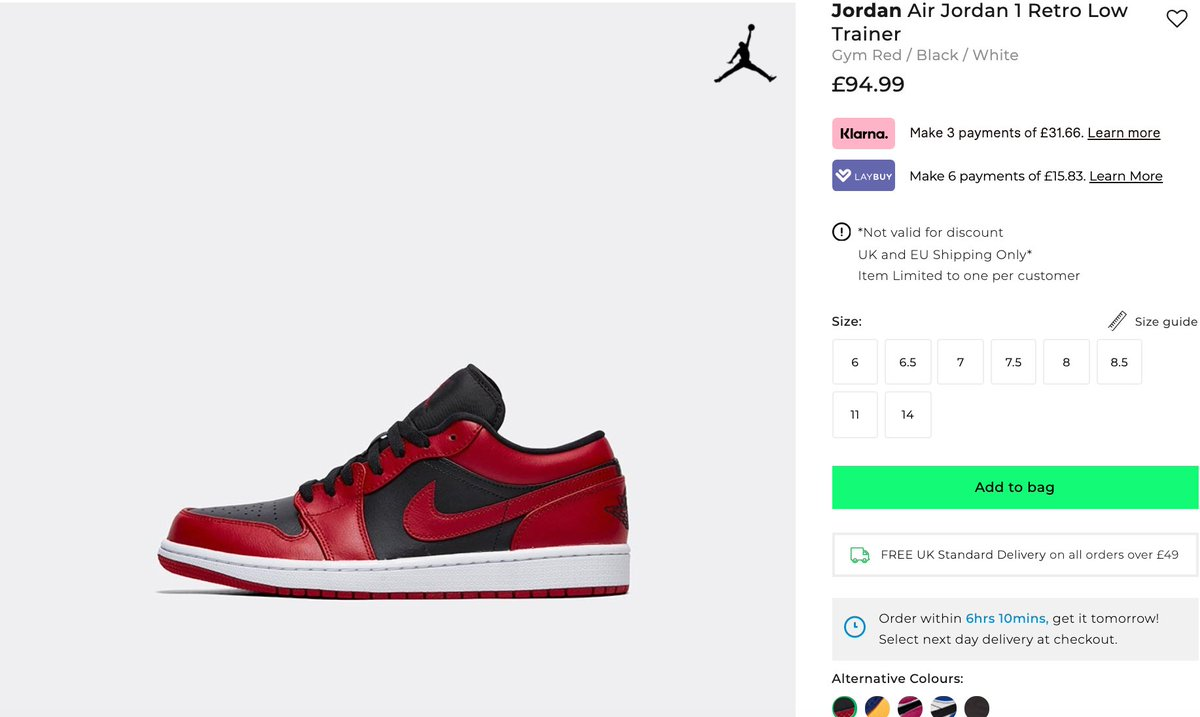 Sneaker Myth On Twitter Ad These Air Jordan 1 Lows Have Restocked At Foot Asylum Reverse Bred Https T Co