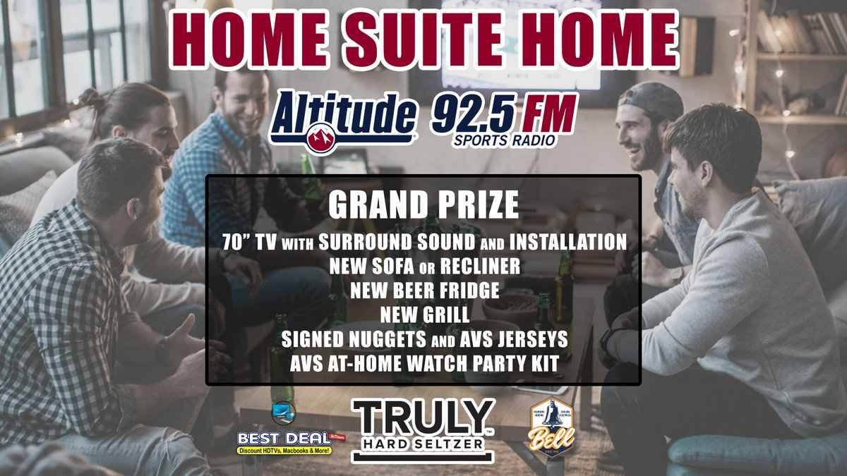 LISTEN to 92.5FM to ENTER to WIN a BRAND NEW #AVS AND #NUGGETS FAN CAVE  That's all you have to do-- listen all throughout the day for the cues to call in EVERY HOUR to qualify!  Also: enter on Twitter by ReTweeting our pinned video or tagging a friend in the comments https://t.co/gEzCB2XnDf