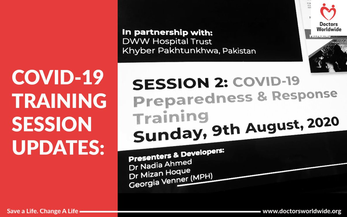 In response to the growing no. of #COVID cases in #Pakistan, we have been conducting training sessions in the KPK province, using our 4 Checklists as a guide (https://t.co/k2YyGj5dkI). Last weekend marked the completion of the second session on infection, prevention & control. https://t.co/lYACniG42N